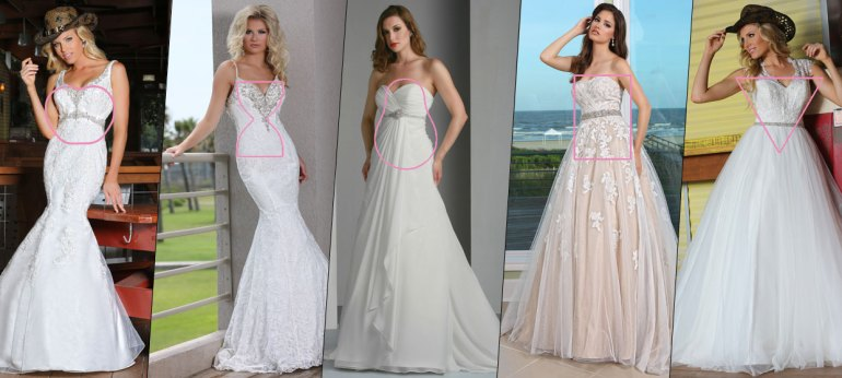 Image result for wedding dress for rectangular body shape