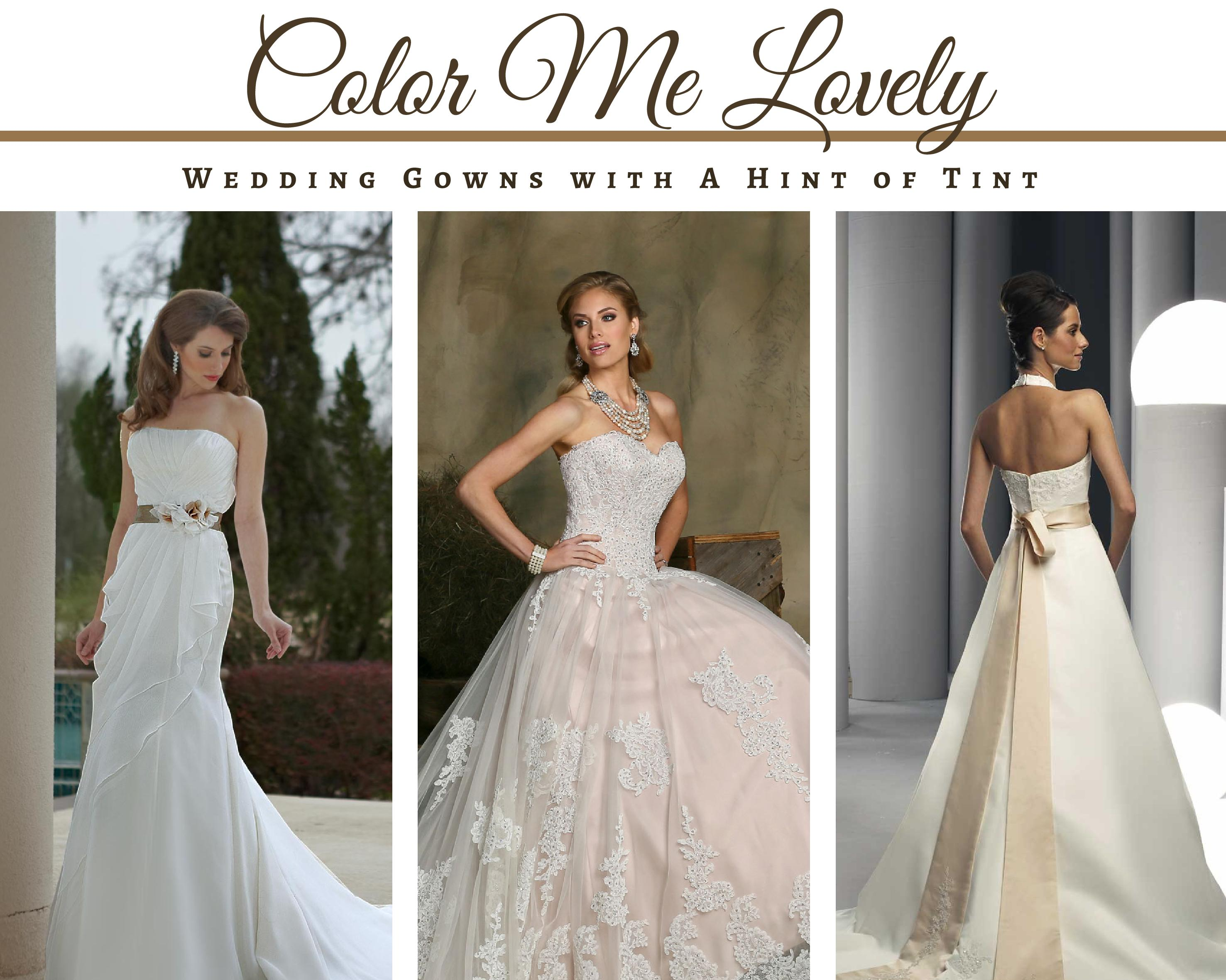 Color Me Lovely: Wedding Gowns with a Hint of Tint | DaVinci Bridal Blog