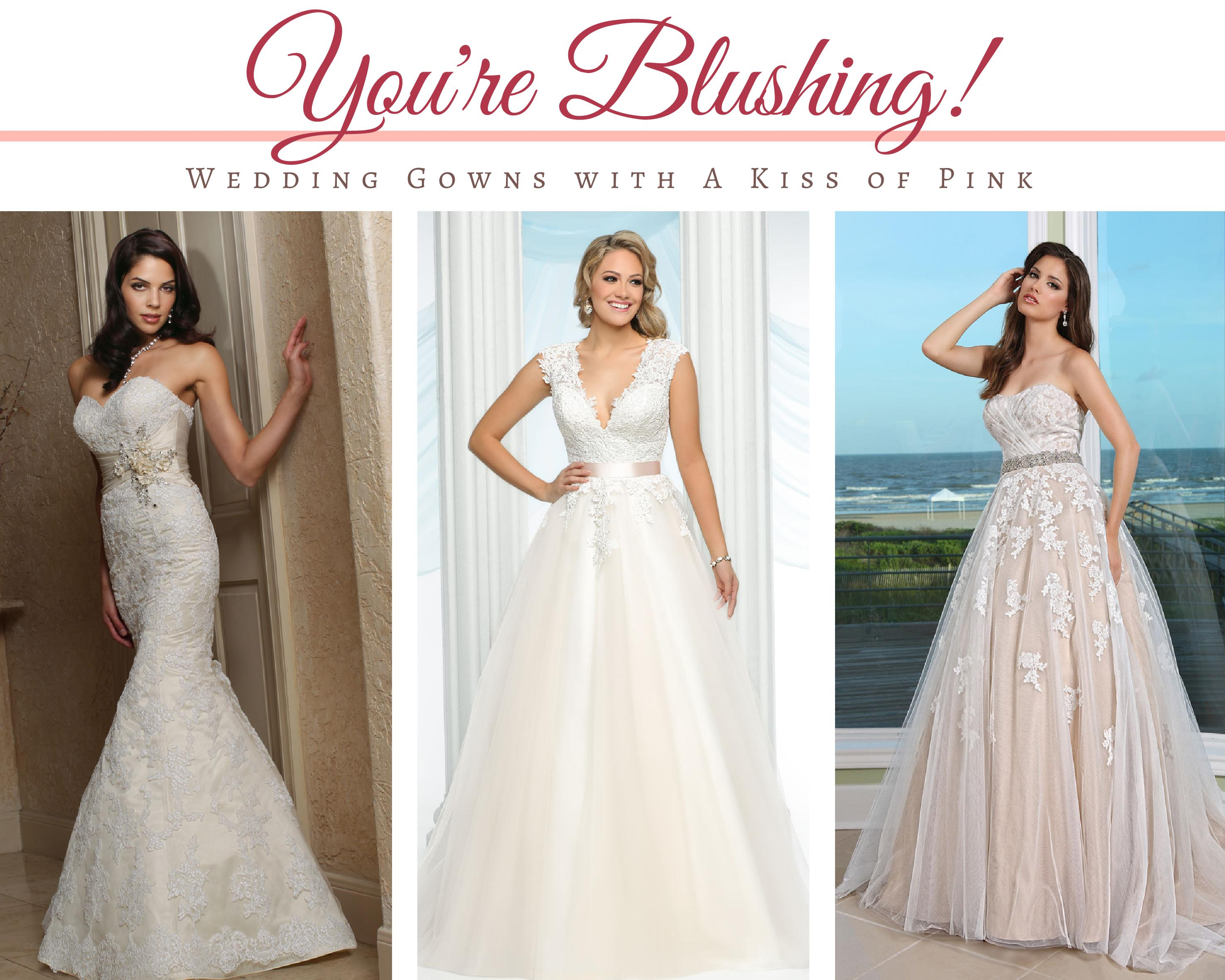 Wedding Gowns with a Kiss of Pink