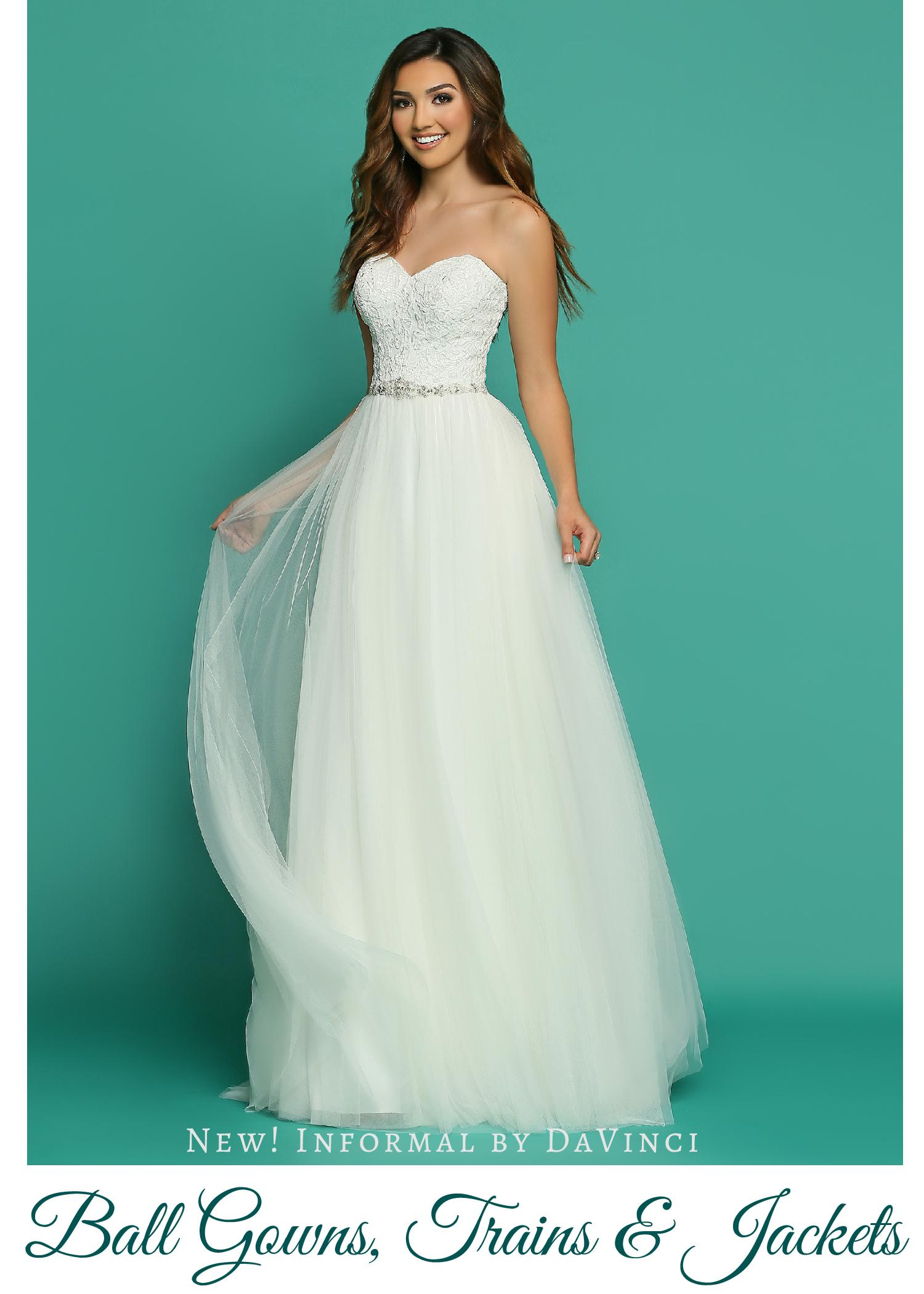 Informal Destination Wedding Dresses: Ball Gowns, Detachable Trains ...