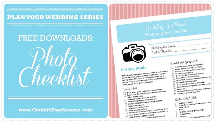 Wedding Photo Planning Checklist