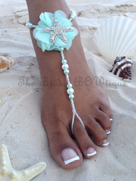 3a3636f49df4b9 Baby blue blossom with silver rhinestone starfish by The Bridal BOWtique