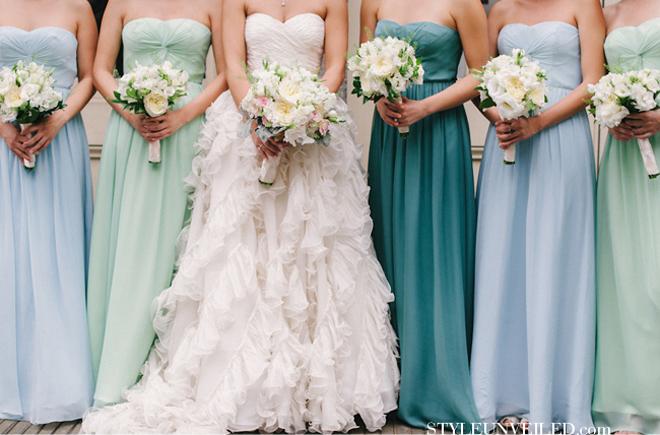 Bridal Party Dresses by Color