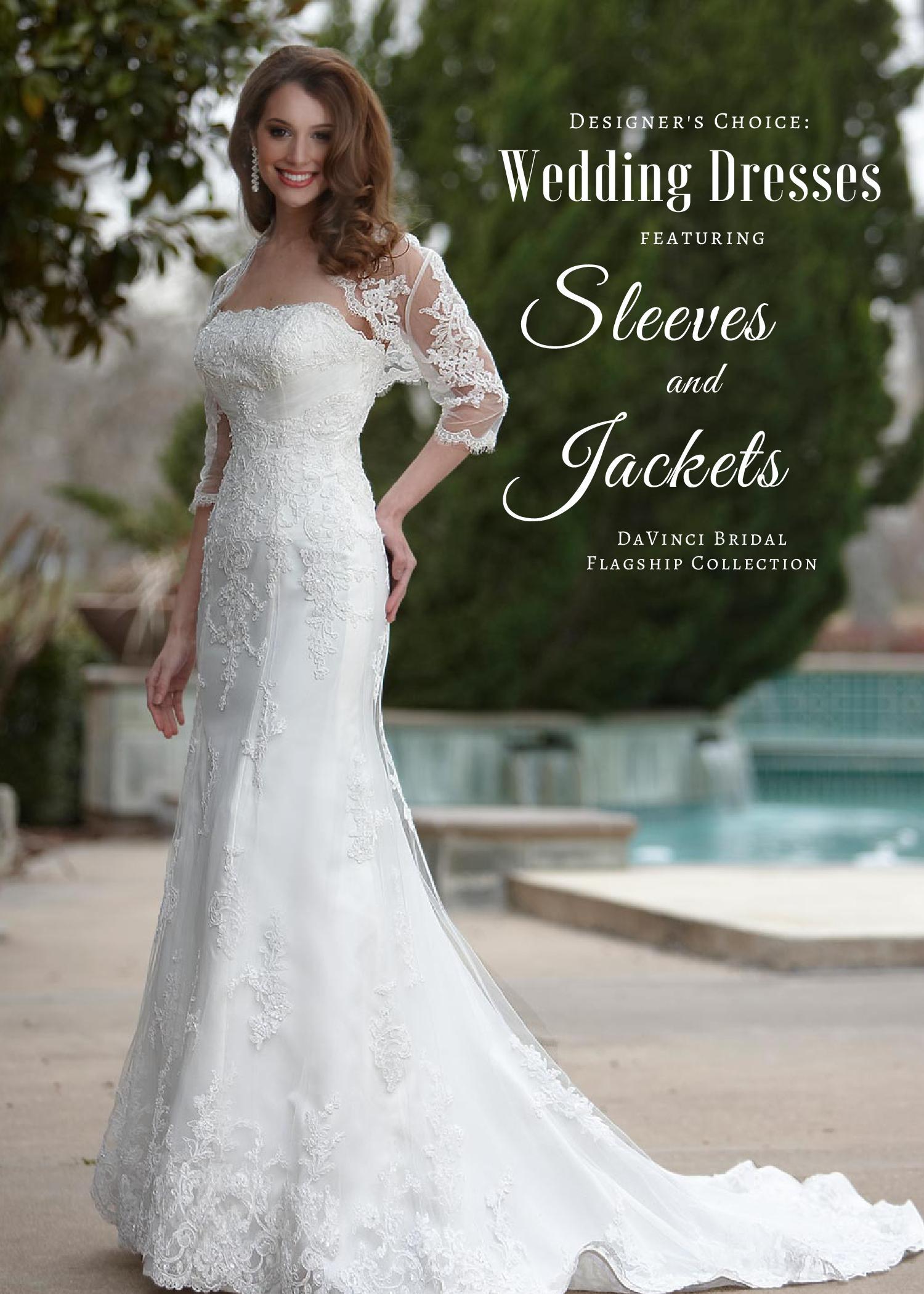 Stunning Wedding Dresses with Sleeves   Jackets - DaVinci Bridal Blog cf510f3b0