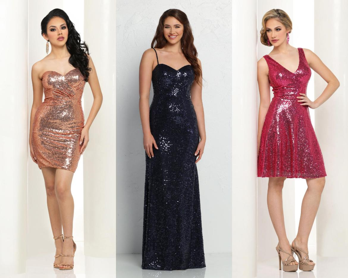 Holiday Fashion Guide  How to Style a Sequin Dress – DaVinci Bridal ... b110ab4aa