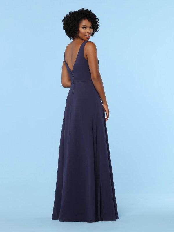 6a6511d8007d Deep V Back Bridesmaid Dresses 2019: Floor-Length Chiffon Bridesmaid Dresses  DaVinci Bridesmaids Style #60374: Chiffon A-Line Bridesmaid Dress with  Tailored ...