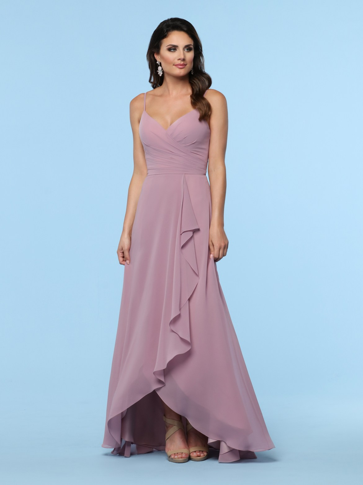 ca1e856beaf8 2019 DaVinci Bridesmaids Style  60380  Chiffon A-Line Bridesmaid Dress