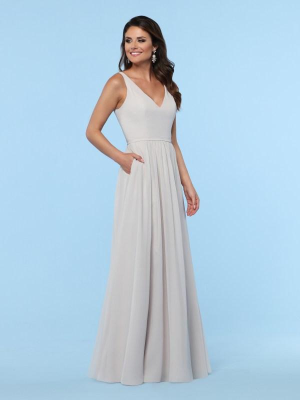 4fa3f6ab43c 2019 DaVinci Bridesmaids Style  60385  Chiffon A-Line Bridesmaid Dress with  V-Neckline