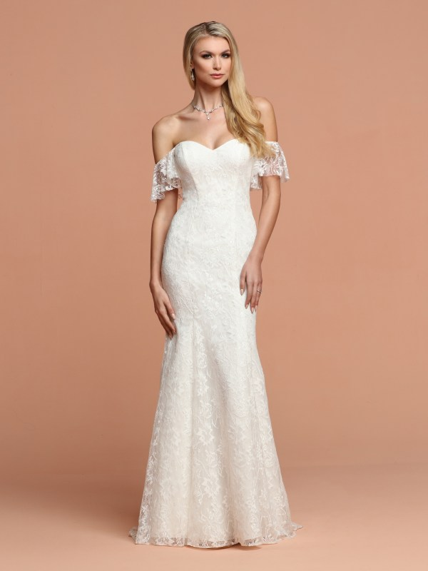Destination Beach Wedding Dresses 2020 Allover Lace Davinci Bridal,Tulle And Lace Wedding Dresses