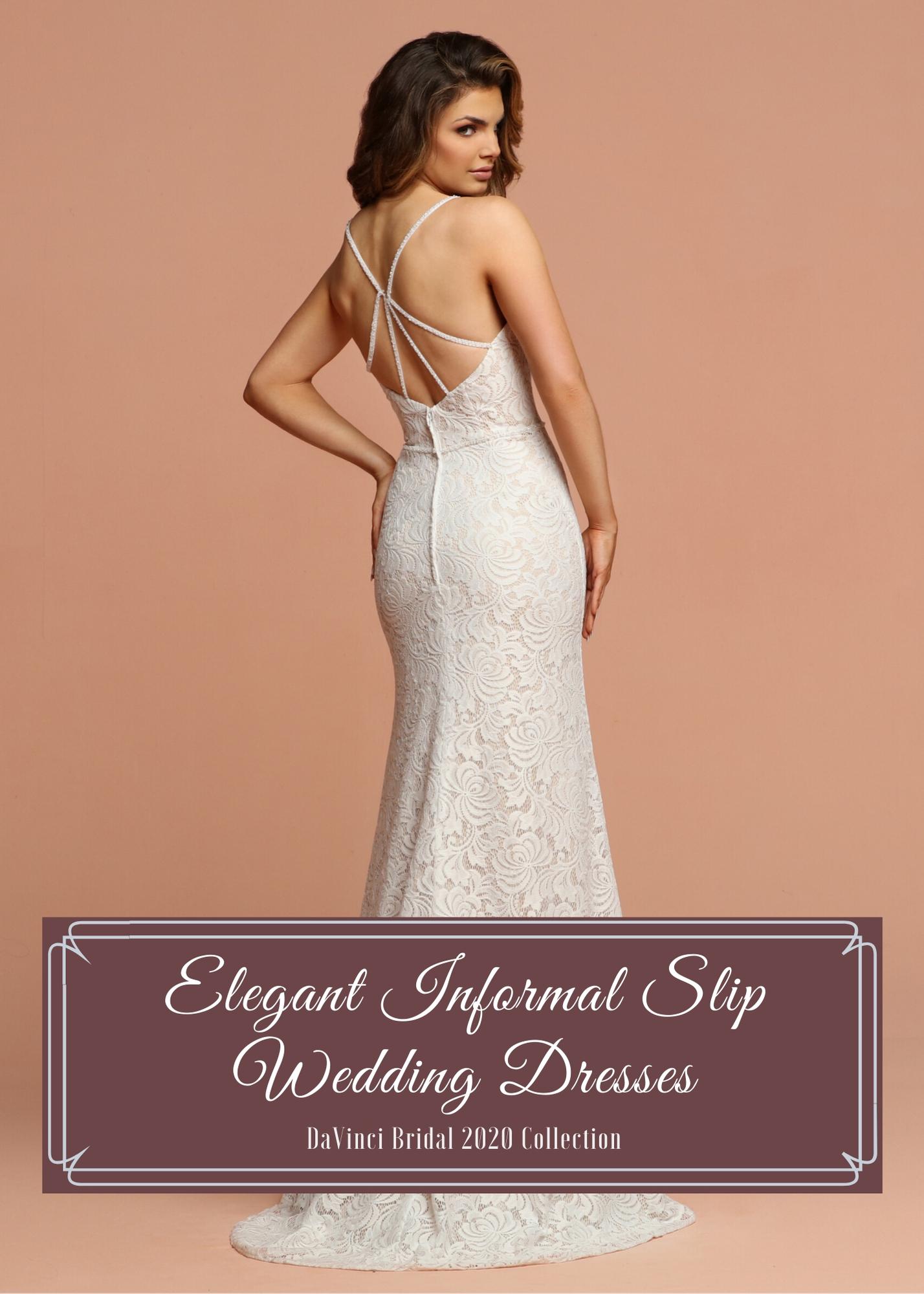 Informal Destination Beach Slip Wedding Dresses 2020 Davinci Bridal,Wedding Day Jennifer Lawrence Wedding Dress Dior