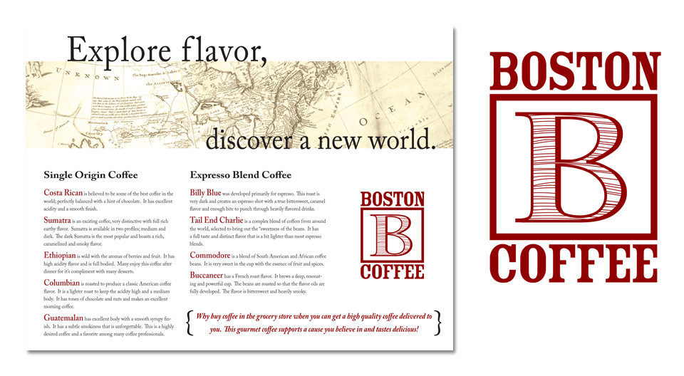 Finding a flavor for Billy Blue and Boston Coffee