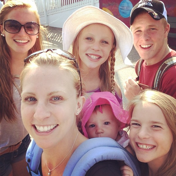 Chelsea and kids at Old Orchard Beach