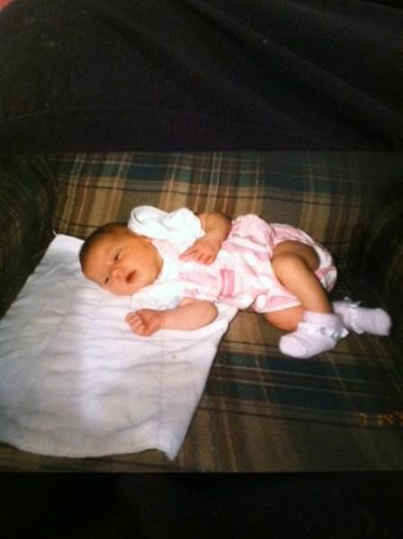 Clarissa as a baby