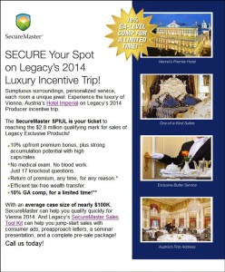 Legacy Incentive Trip Flyer
