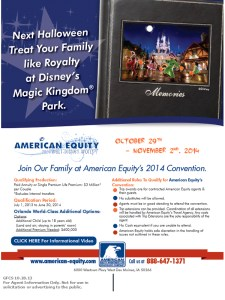 American Equity Disney Sales Incentive