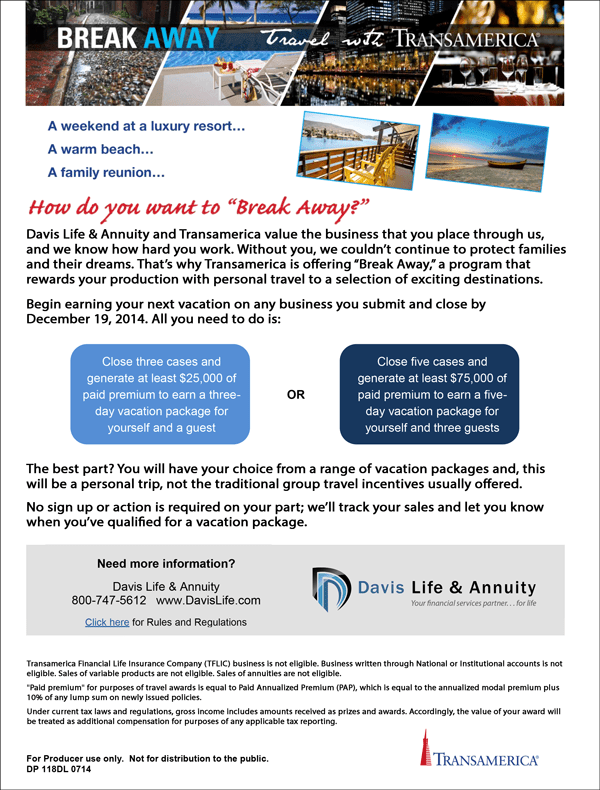 Transamerica Break Away_Website ad