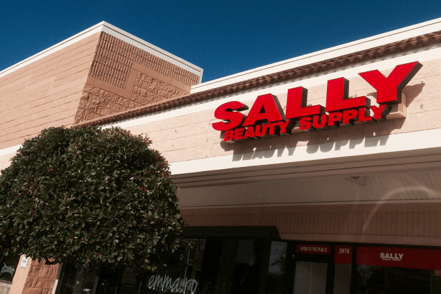 A Sally Beauty Supply store at Jacksonville Beach, Fla.