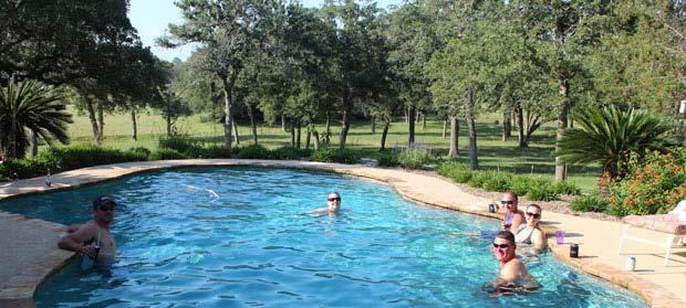 Enjoying the Pool!