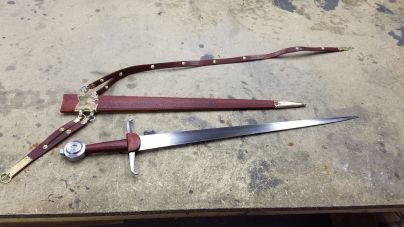 15th Century Arming Sword & Scabbard