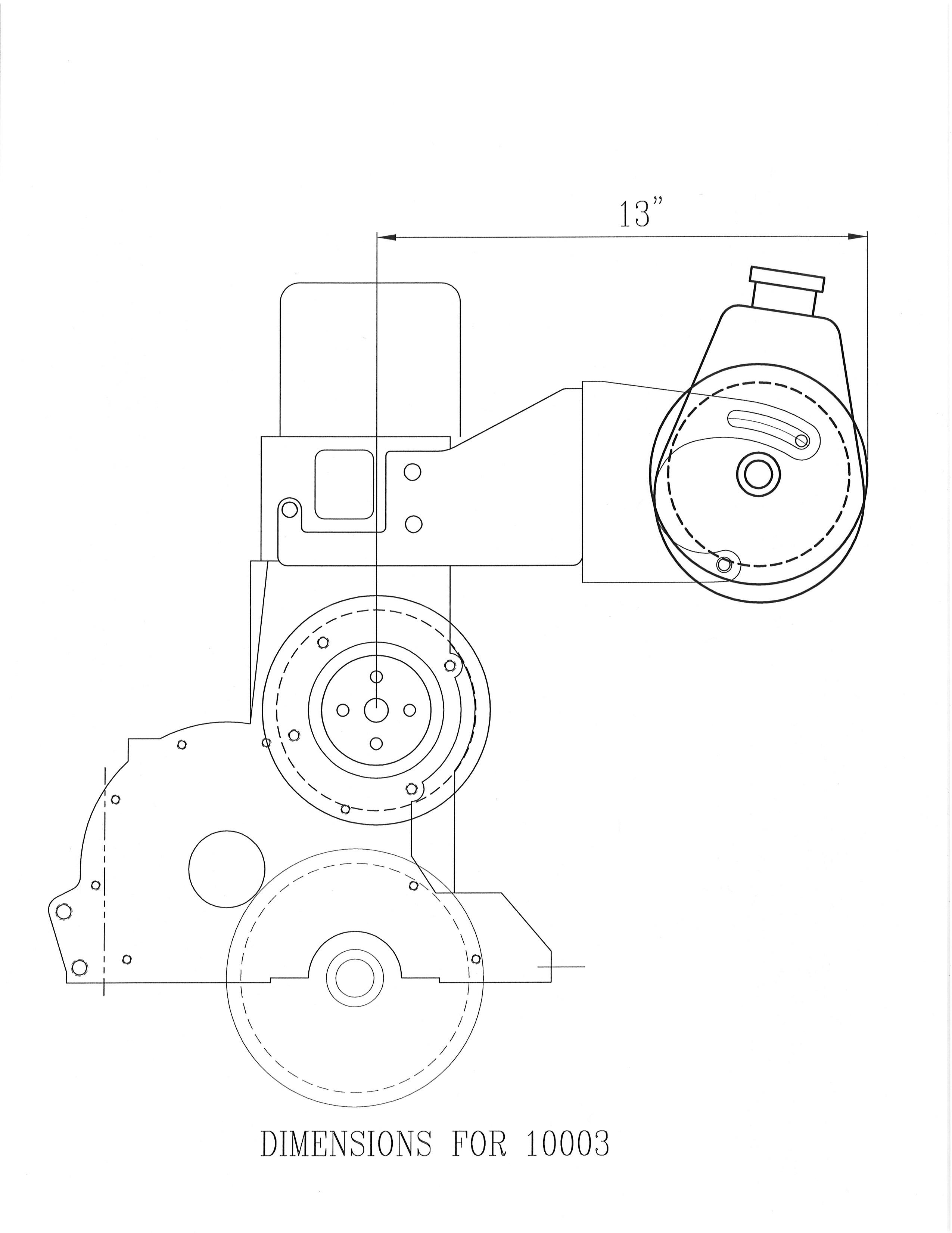 Power Steering Bracket 292 Chevy Using 74 Water