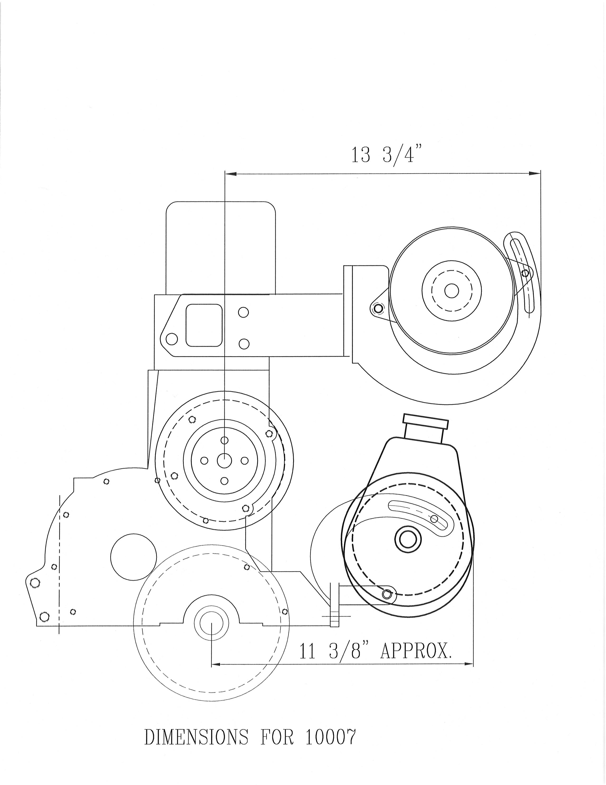 Power Steering Amp Alternator Bracket 292 With 89