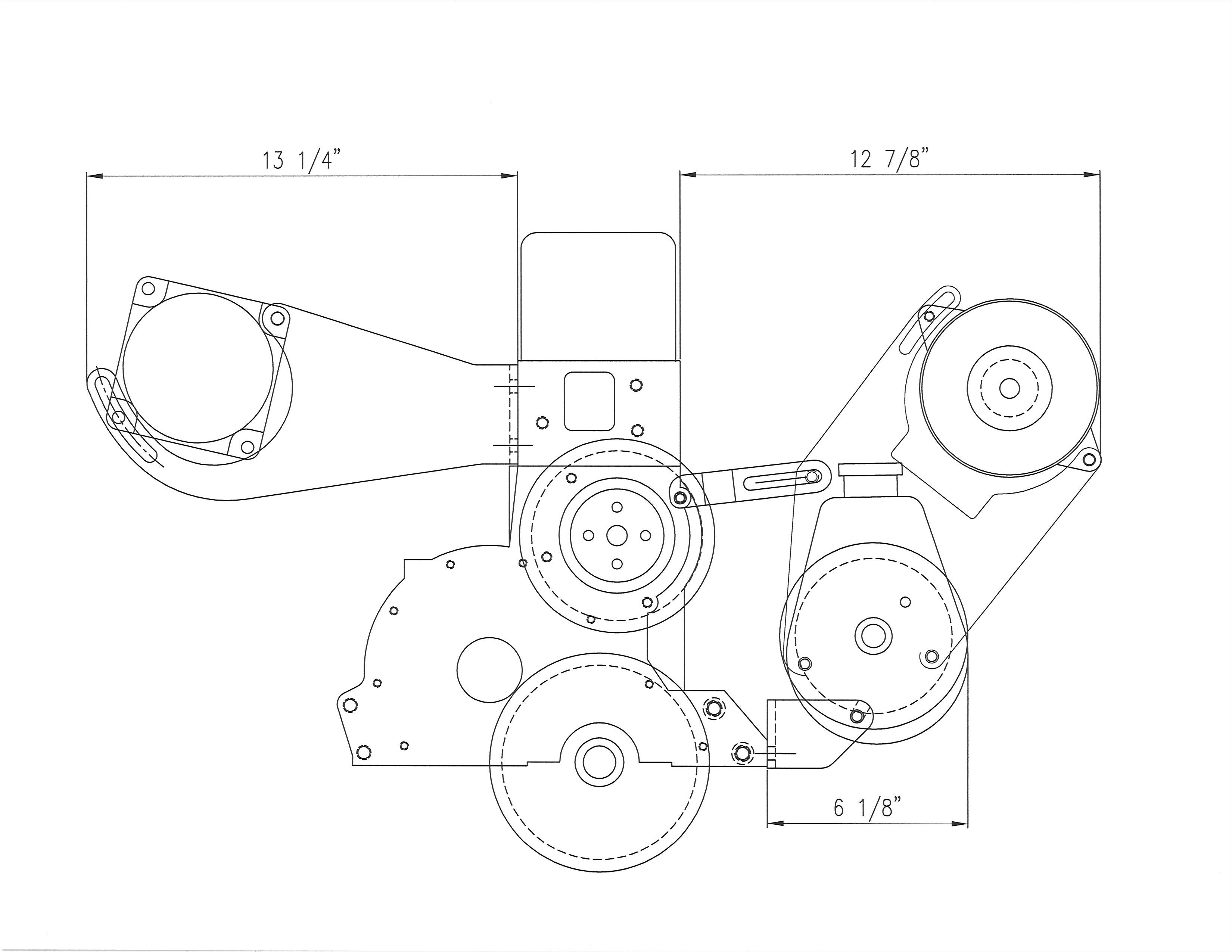 Low Profile Air Conditioning Power Steering