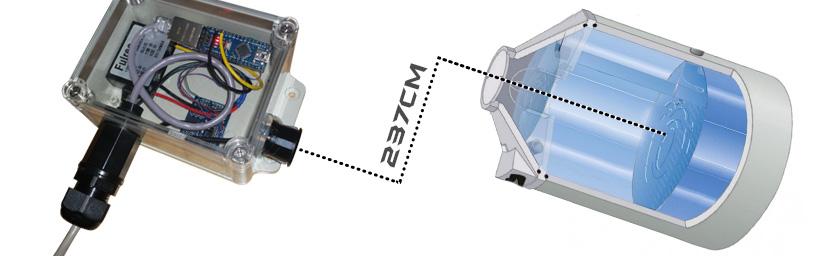 Zisternenfüllstand messen mittels Arduino, Ultraschall und Ethernet (PoE)