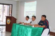 Gov. Rodolfo del Rosario, DILG Provincial Director Alex Roldan, and DNPPO Provincial Director PSSUPT Samuel Gadingan lead the Provincial Drug Abuse Prevention and Rehabilitation Board meeting held in Capitol, Tagum City.