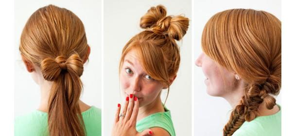 Как сделать бантик из волос. Много способов!