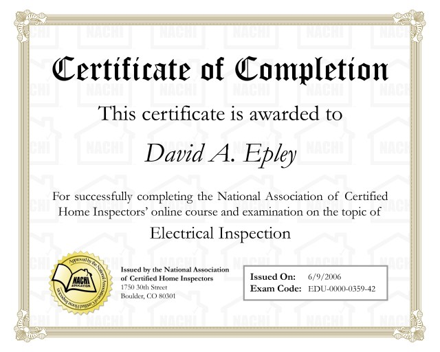Certificate of Completion Examples