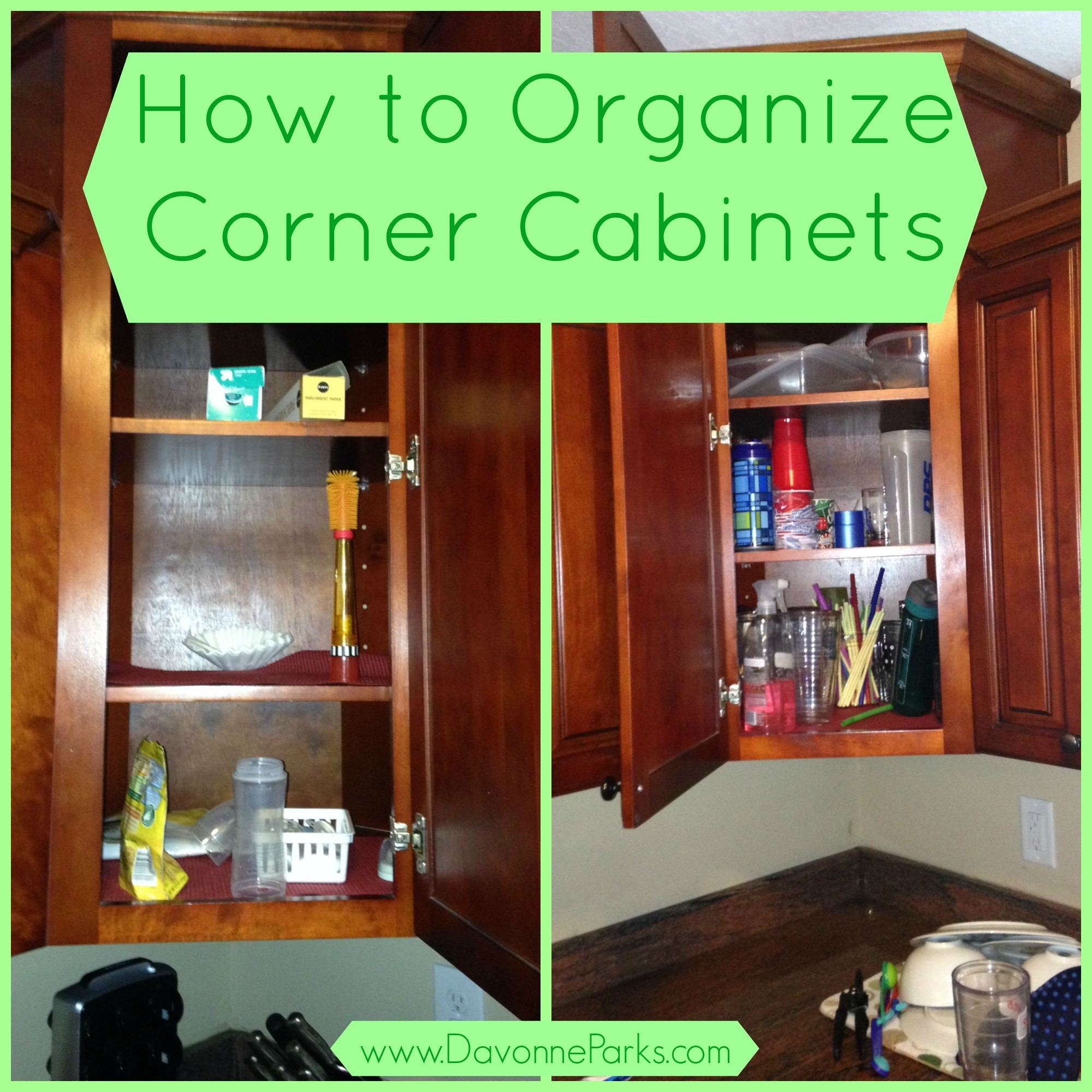 Kitchen Cabinets Organizing Ideas: How To Organize Corner Cabinets