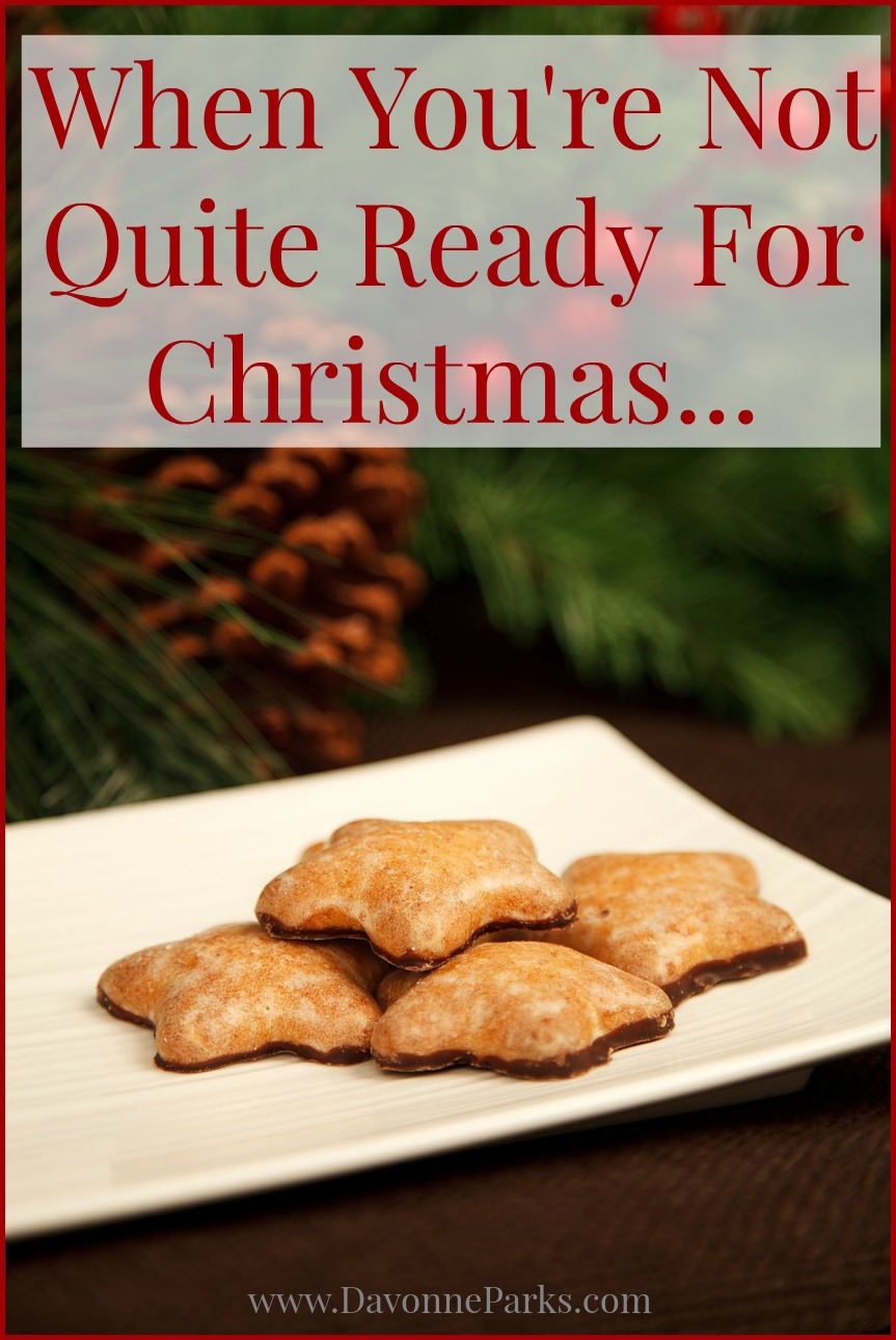 When You\'re Not Quite Ready for Christmas - Davonne Parks