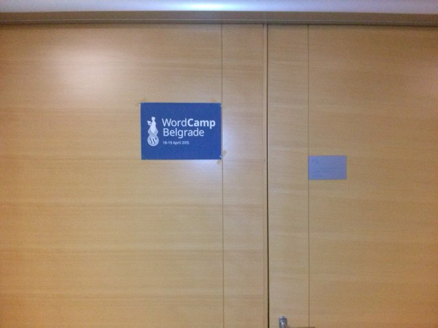 WordCamp Belgrade conference room