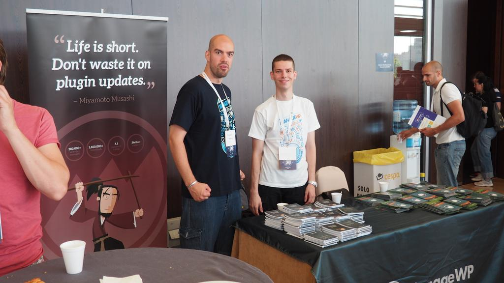 My colleague Miljenko and I at the booth