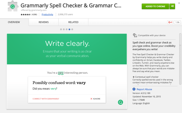 Grammarly Extension