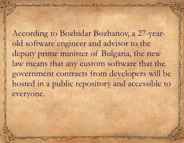 open source in Bulgaria