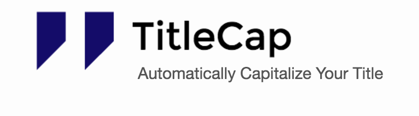 TitleCap tool