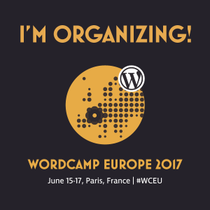 WCEU 2017 organizer badge