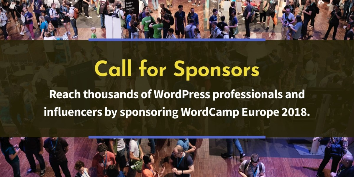 WordCamp Europe 2018 call for sponsors