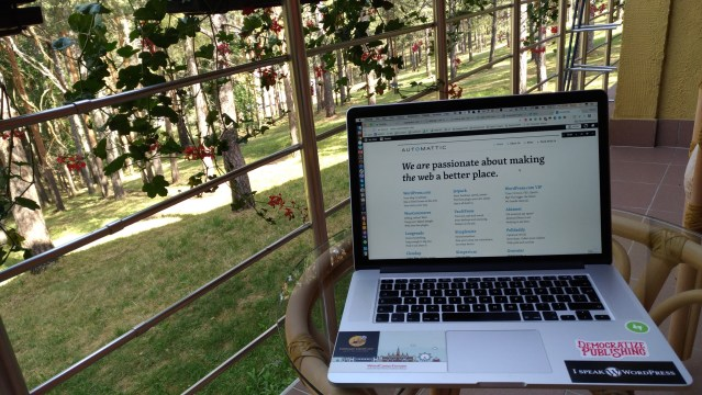 Working in the forest