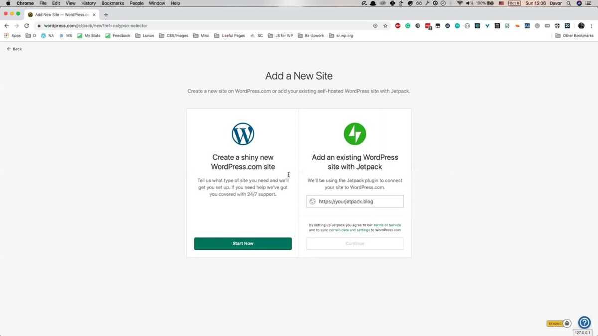 Creating a WordPress.com site 1