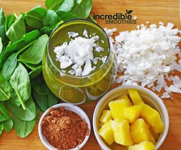 Chocolate Coconut Smoothie Green Smoothie Recipe