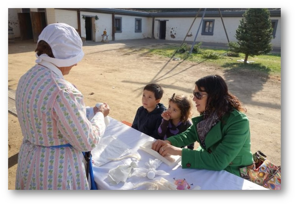 DOCENTS GIVE HISTORY