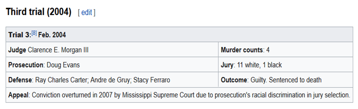 #3 TIMELINE REPEATED PROSECUTOR MISCONDUCT LEADS TO 6 TRIALS