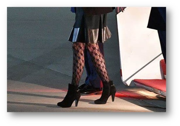 """69 -YEAR- OLD JILL """"BAMBI"""" BIDEN AND HER FISHNET STOCKINGS"""