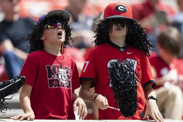 Fans during G-Day on Dooley Field at Sanford Stadium in Athens, Ga., on Saturday, April 17, 2021. (Photo by Mackenzie Miles)
