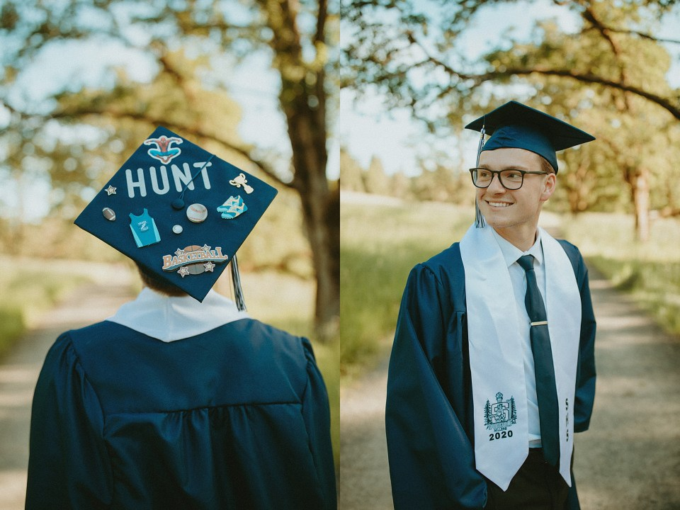 boy in his cap and gown