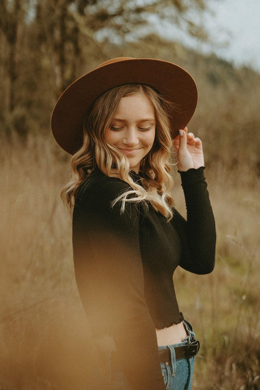 girl in black shirt