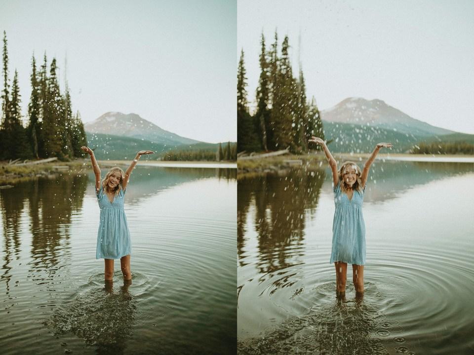 girl taking summer senior pictures