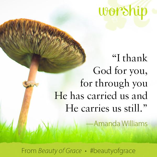 Amanda Williams The Beauty of Grace #beautyofgrace